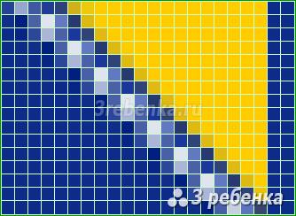 Схема фенечки прямым плетением Босния и Герцеговина
