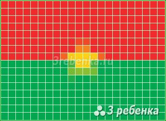 Схема фенечки прямым плетением Буркина-Фасо
