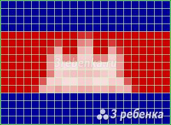 Схема фенечки прямым плетением Камбоджа