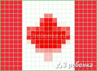 Схема фенечки прямым плетением Канада