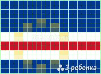 Схема фенечки прямым плетением Кабо-Верде
