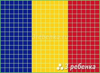 Схема фенечки прямым плетением Чад