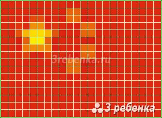 Схема фенечки прямым плетением Китай