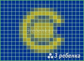 Схема фенечки прямым плетением Содружество наций