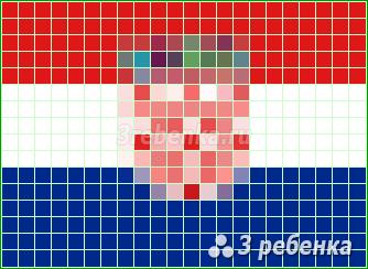 Схема фенечки прямым плетением Хорватия