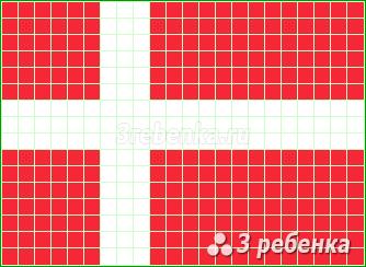 Схема фенечки прямым плетением Дания