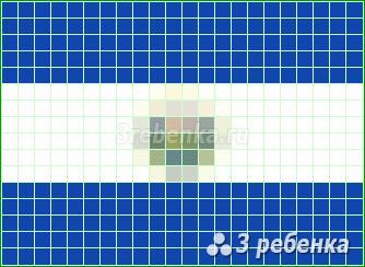 Схема фенечки прямым плетением Эль-Сальвадор