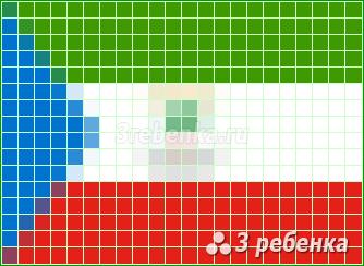 Схема фенечки прямым плетением Экваториальная Гвинея