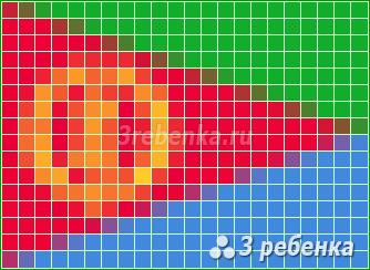 Схема фенечки прямым плетением Эритрея