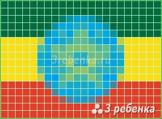 Схема фенечки прямым плетением Эфиопия