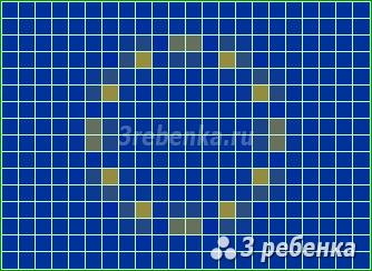 Схема фенечки прямым плетением Европейский союз