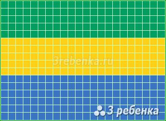 Схема фенечки прямым плетением Габон