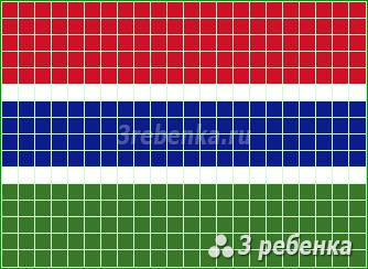 Схема фенечки прямым плетением Гамбия