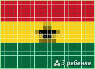 Схема фенечки прямым плетением Гана