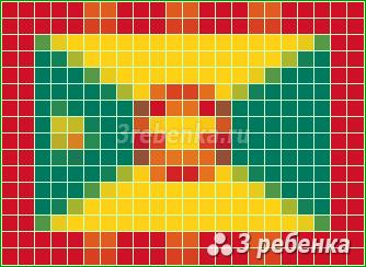 Схема фенечки прямым плетением Гренада