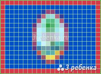 Схема фенечки прямым плетением Гуам