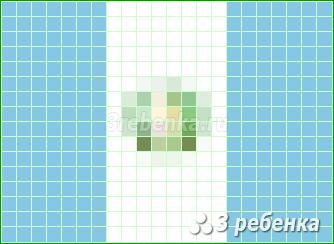 Схема фенечки прямым плетением Гватемала