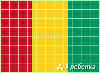 Схема фенечки прямым плетением Гвинея