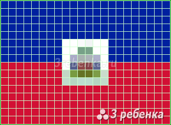 Схема фенечки прямым плетением Гаити