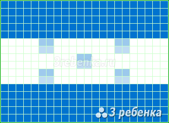 Схема фенечки прямым плетением Гондурас