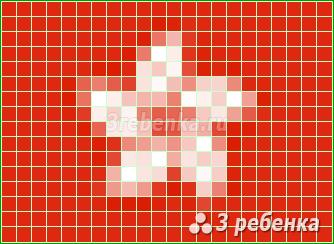 Схема фенечки прямым плетением Гонконг