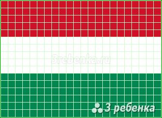 Схема фенечки прямым плетением Венгрия