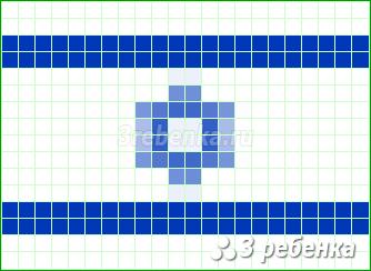 Схема фенечки прямым плетением Израиль