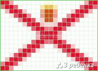Схема фенечки прямым плетением Джерси