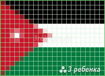 Схема фенечки прямым плетением Иордания