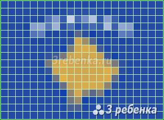 Схема фенечки прямым плетением Косово
