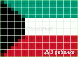 Схема фенечки прямым плетением Кувейт