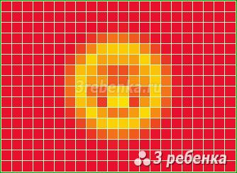 Схема фенечки прямым плетением Киргизия