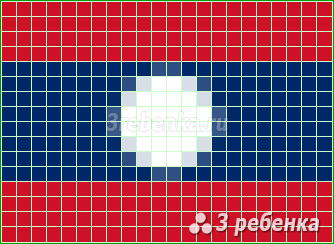 Схема фенечки прямым плетением Лаос