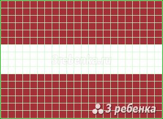 Схема фенечки прямым плетением Латвия