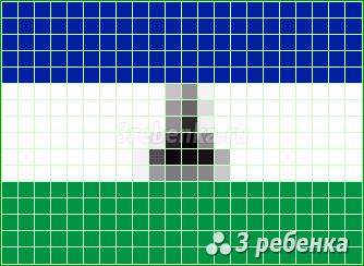 Схема фенечки прямым плетением Лесото