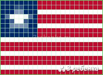Схема фенечки прямым плетением Либерия