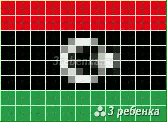 Схема фенечки прямым плетением Ливия