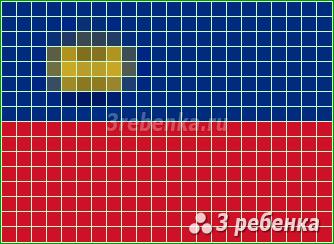 Схема фенечки прямым плетением Лихтенштейн