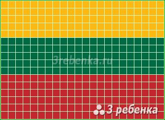 Схема фенечки прямым плетением Литва