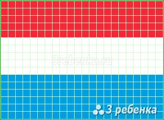 Схема фенечки прямым плетением Люксембург