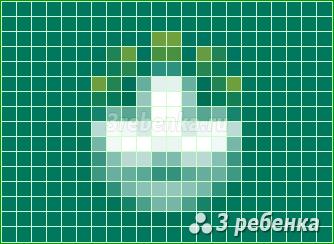 Схема фенечки прямым плетением Макао