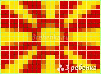 Схема фенечки прямым плетением Республика Македония