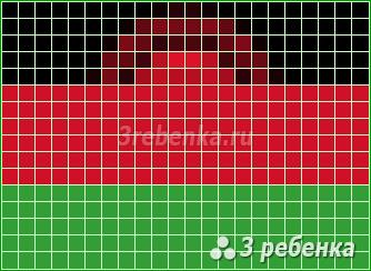 Схема фенечки прямым плетением Малави