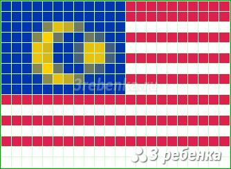 Схема фенечки прямым плетением Малайзия