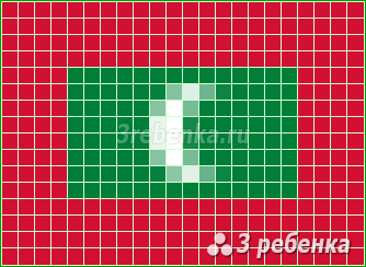 Схема фенечки прямым плетением Мальдивы