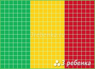 Схема фенечки прямым плетением Мали