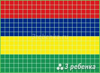 Схема фенечки прямым плетением Маврикий