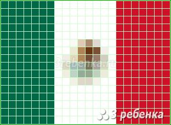 Схема фенечки прямым плетением Мексика