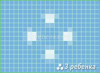 Схема фенечки прямым плетением Микронезия