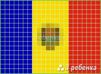 Схема фенечки прямым плетением Молдова, Республика